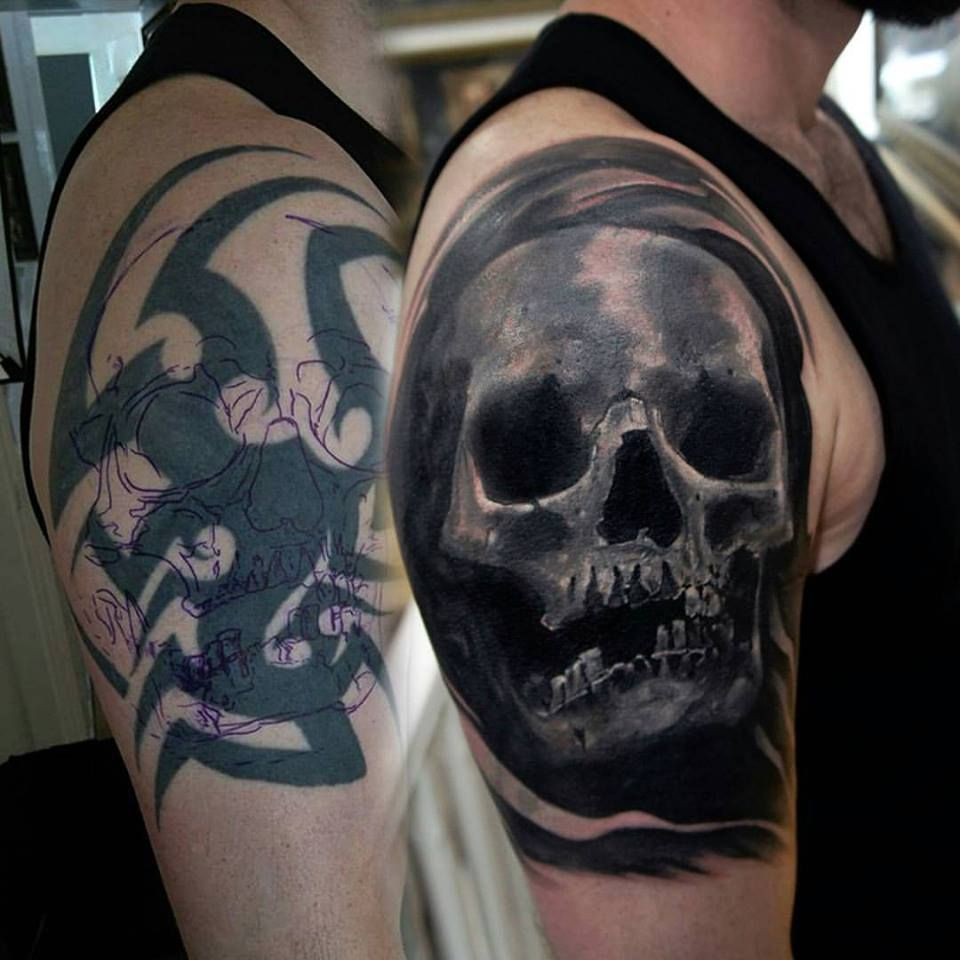 Cover Up Regretful Tattoos with a Skeleton