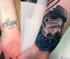Covering Up a Wrist Tattoo Idea for Men