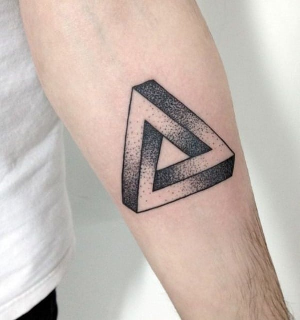 Dotted Shaded Triangle Tattoo