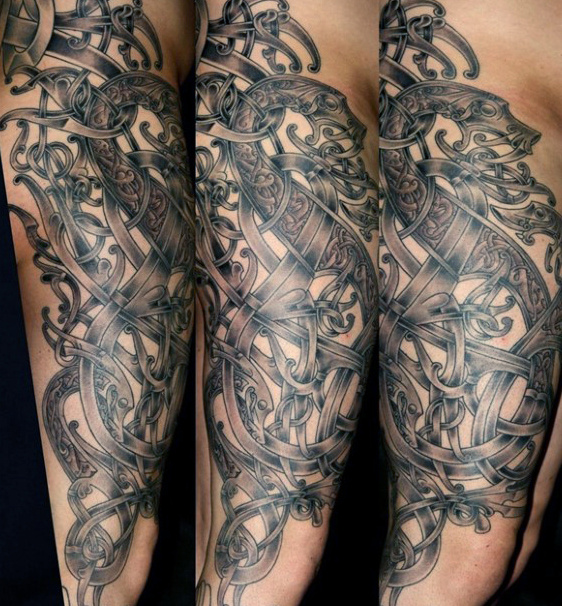Dragon and Ivy Arm Piece for Men
