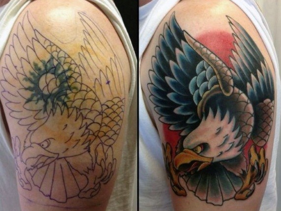 Eagle in Place of a Sun Cover Up