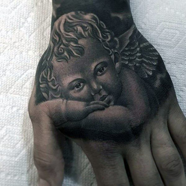 Hand Tattoo Cover Up Piece