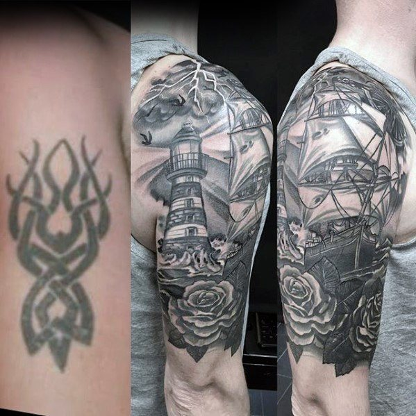 Lighthouse Shoulder Cover Up Idea for Men