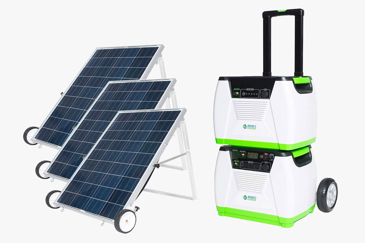 NATURE'S GENERATOR - 1800W Solar Powered Generator