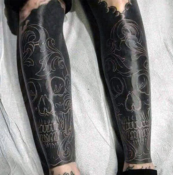 Negative Ink Forearm Idea