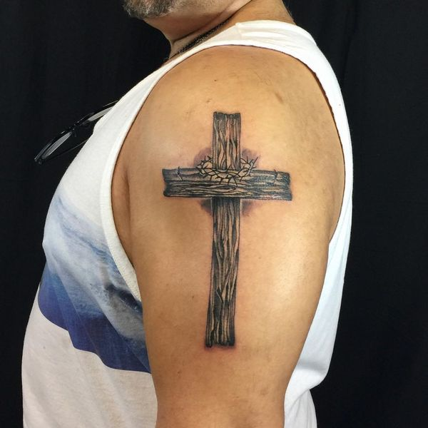 Wooden Cross Shoulder Piece