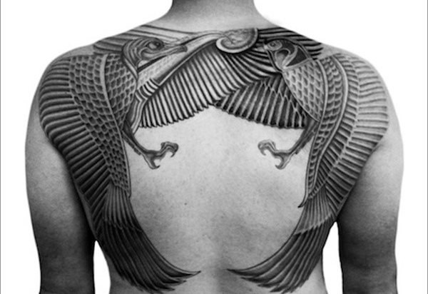 Egyptian Male Tattoo Idea for a Back Piece