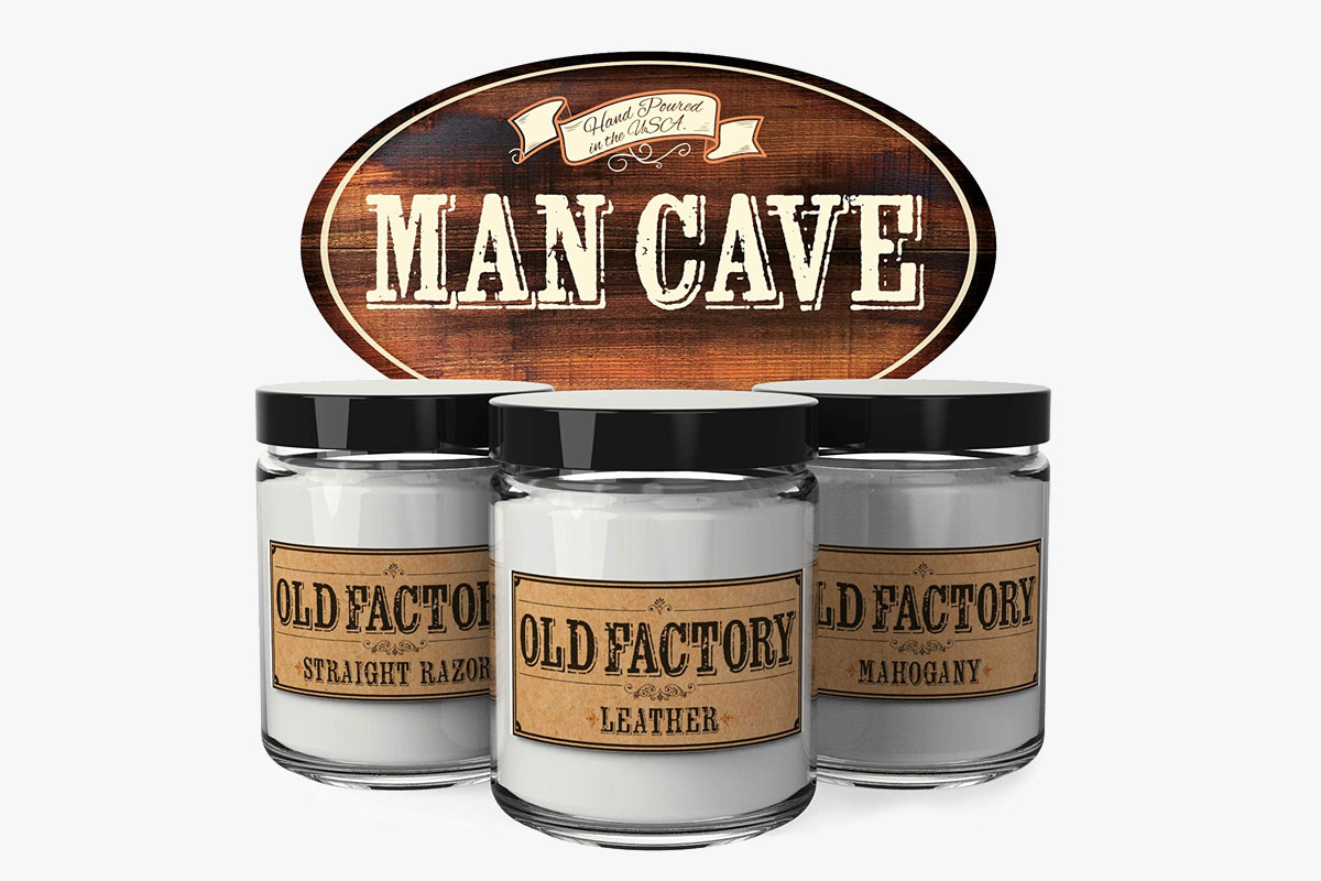 Old Factory Scented Candles for Men