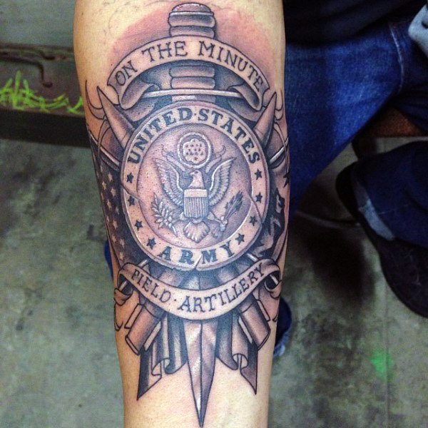 On the Minute United States Army Military Tattoo Design