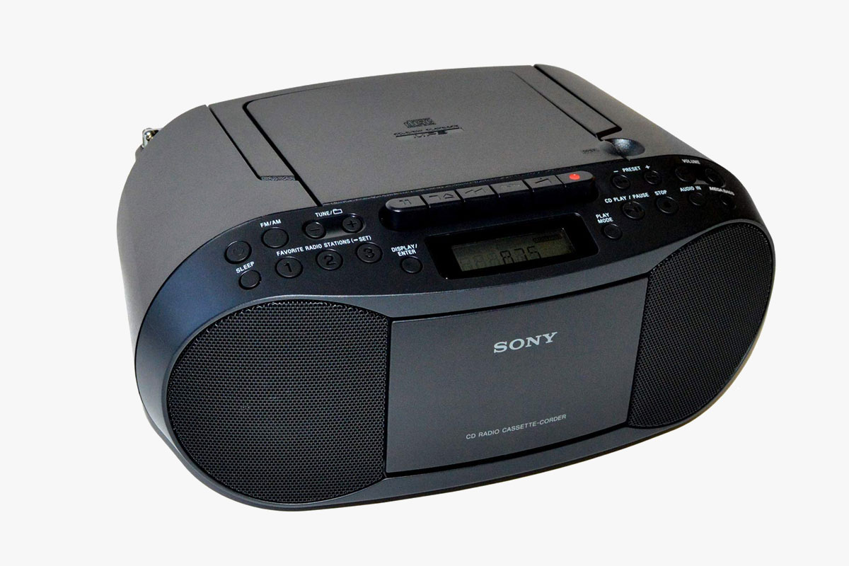 Sony CD Player Portable Boombox with AM/FM Radio & Cassette Tape Player