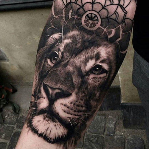 Enlarged Forearm Piece of a Lion's Face
