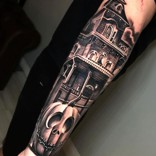 The Perfect Forearm Design for People Who Love Halloween