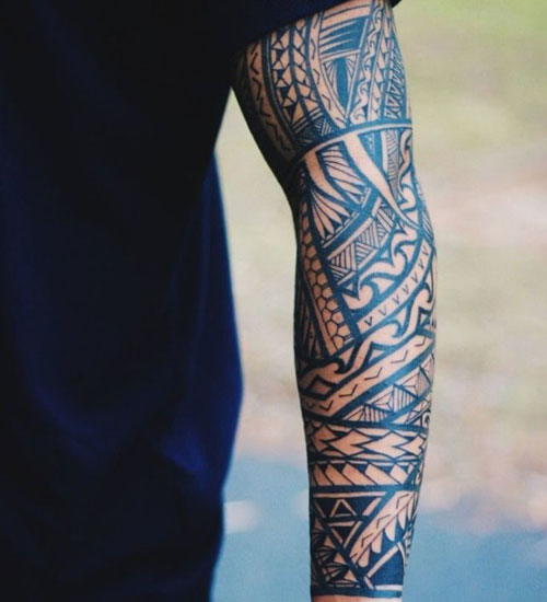 Tribal Line Work for Forearm Tattoo