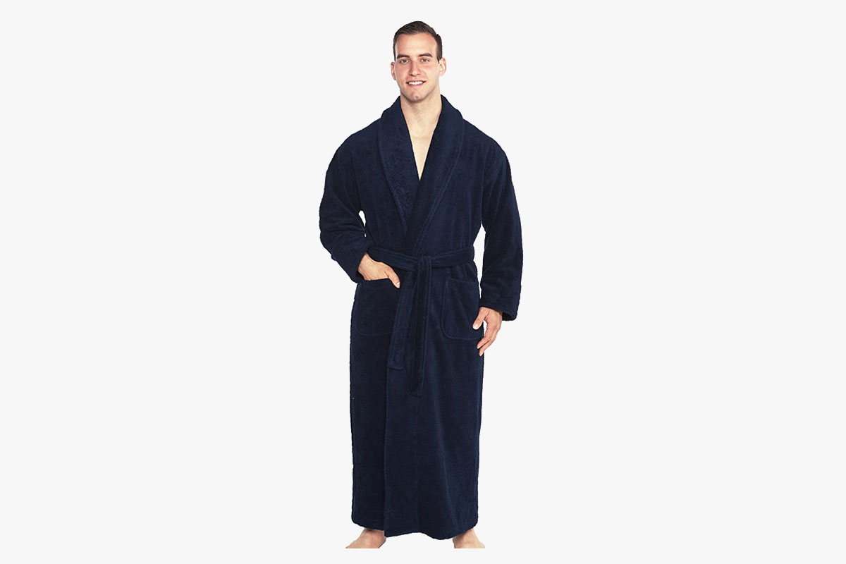 Turkish Towls Cotton Terry Bathrobe