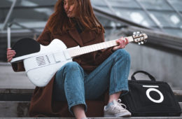 the revehō slite collapsible travel guitar